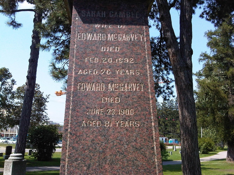 McGarvey Tombstone