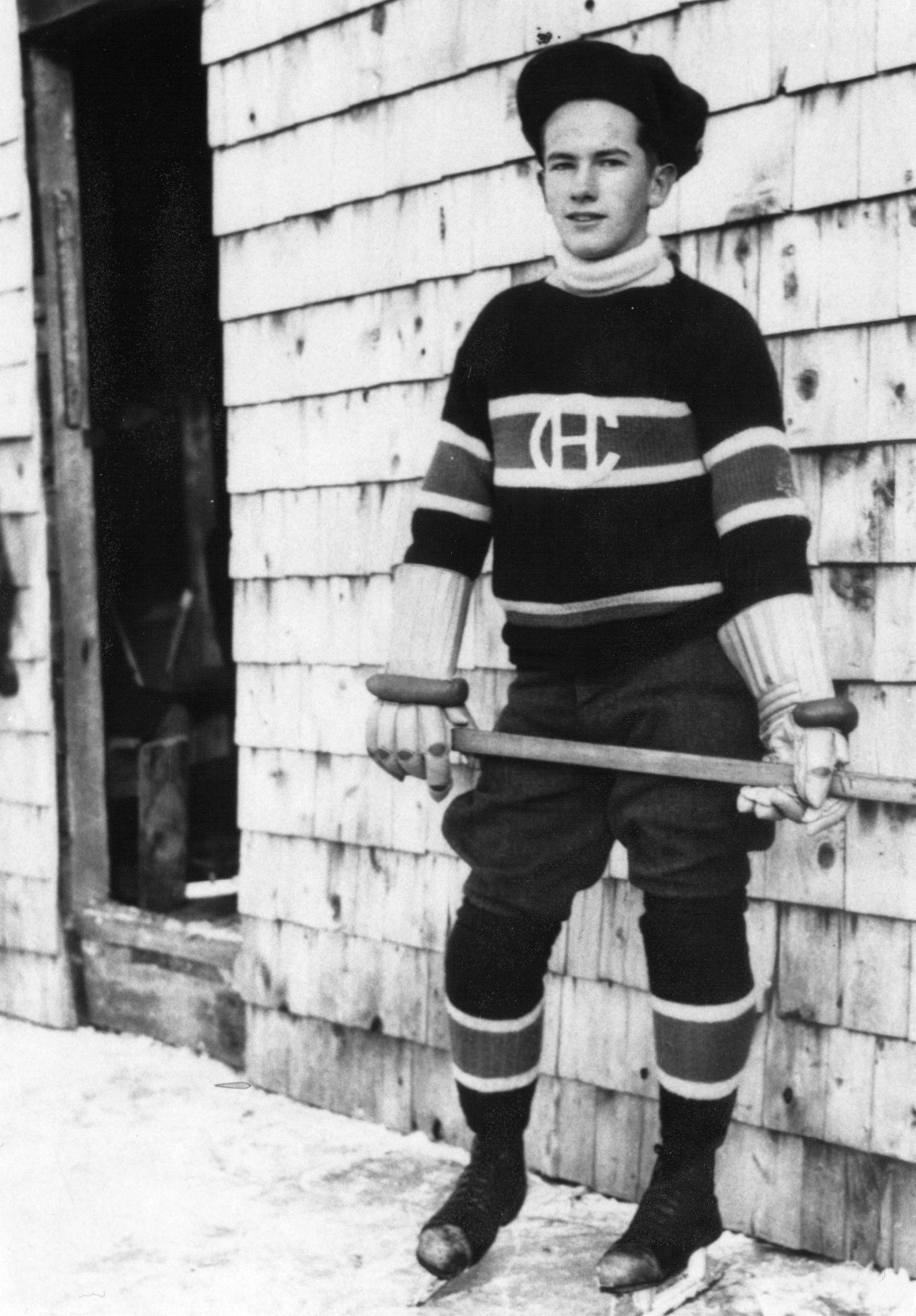 Aubrey McGarvey in Hockey Gear